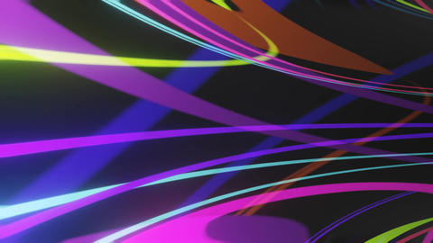 Wild colors in motion, tunnel animation of vivid colored…, Stock Animation