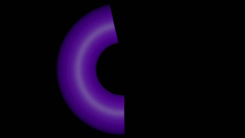 Abstract magic purple fantasy body, rendering as a torus, morphing into star Animation