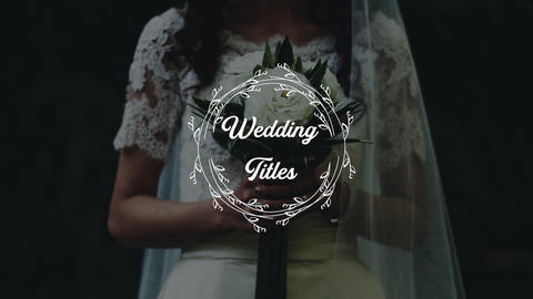 Wedding Titles Apple Motion Template