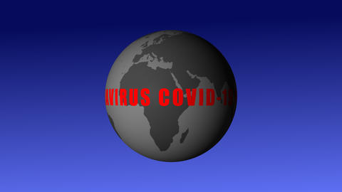 Increased coronavirus exposure to covid-19. Pandemic in World with SARS-CoV-2 bacteria. Danger, Animation