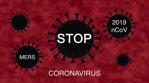 Black cells corona virus in red blood. Reproduction corona virus in human Live Action