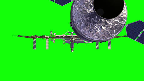 Cargo Spaceship Is Preparing To Dock With International Space Station GIF