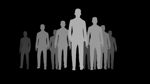 Silhouette of Walking Crowd Animation