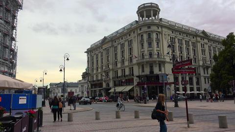 Bristol Hotel in Warsaw. Poland. 4K Footage