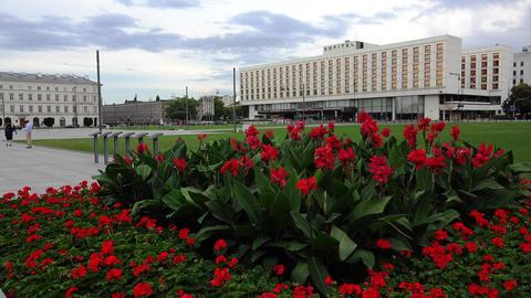 Sofitel Hotel. Warsaw. Poland. 4K Footage