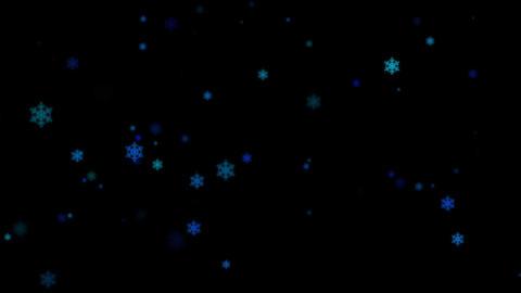 キラキラ背景「ループ」 雪、冬、クリスマス Animation