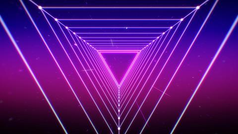 Triangle grid light 80's retro style futuristic background Photo