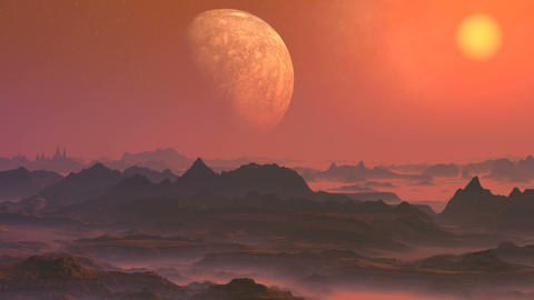 Misty Alien Planet Animation
