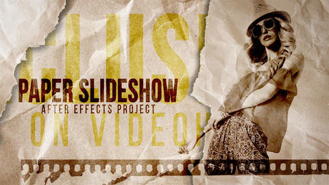 Paper Slideshow After Effects Template