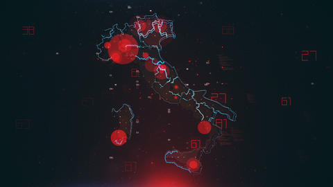 Mapping Epidemic Outbreak in Italy Animation