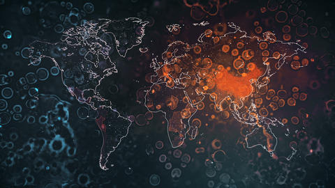 Global Mapping Coronavirus Pandemic Animation