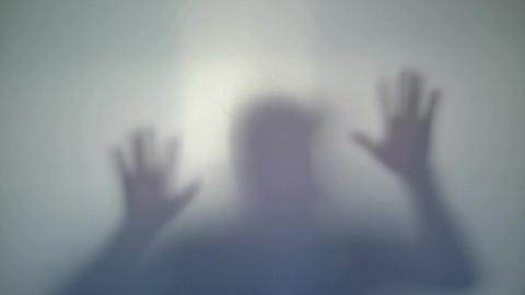 Cruel murder in shower, dead body of man falling down Live Action