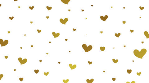 Gold glitter video animation with hearts Animation