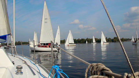 Beautiful summer day on sea, yachting, sailing, adventures Footage