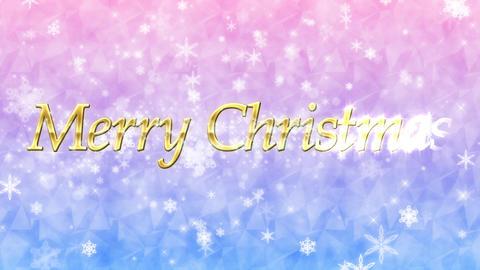 メリー・クリスマス(Merry Christmas)ループ キラキラ背景 Animation