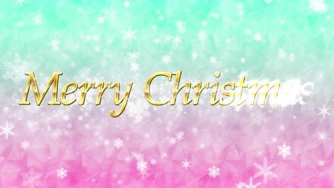 メリー・クリスマス(Merry Christmas)ループ キラキラ背景 CG動画