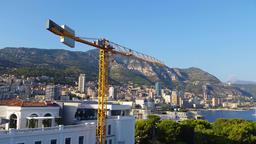 Panoramic View of the Principality of Monaco Footage