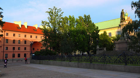 Quiet, cozy courtyard in Warsaw. Old city. Poland. 4K Footage