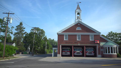 The fire station in a small town Footage