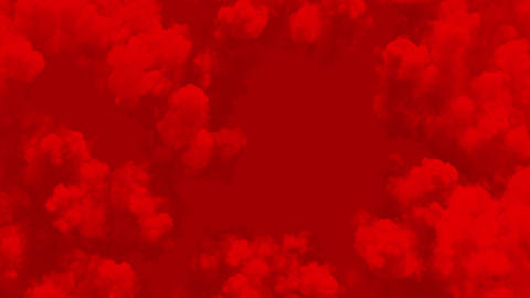 Abstract Red Skies Seamless. Red Clouds of Smoke Looped 3d Animation. 4k Ultra Live Action