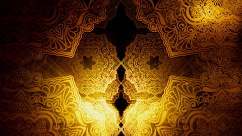 Vintage Islamic Pattern 01 Videos animados