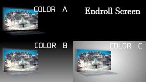 Movie or drama style simple end roll Screen After Effects Template