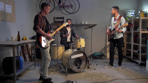 Music garage band having repetition Live Action