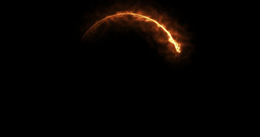 Abstract Particles of Fire Light Running in a Circle Shape, Live Action