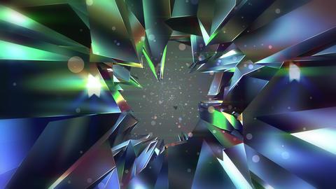 揺らめく宝石のアブストラクト - ダイヤモンド_2 CG動画