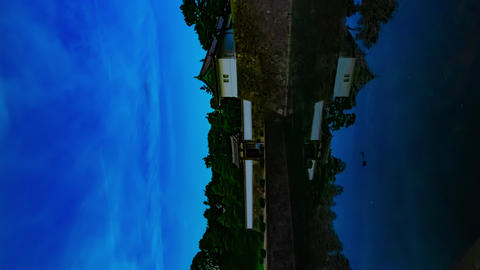 A dusk timelapse at the imperial palace in Tokyo vertical shot Live Action