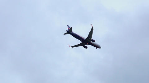 Commercial Passenger Airplane Flying Overhead To Landing 4K Live Action