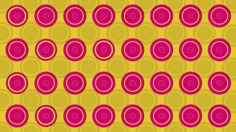 Abstract Pattern With Colorful Circles And Rings Animated On The Surface Animation