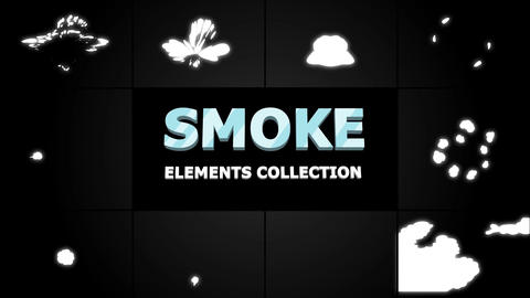 Smoke Elements Collection Motion Graphics Template