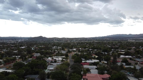 Gorgeous cityscape of the capital of Namibia, Windhoek, cloudy morning Live Action