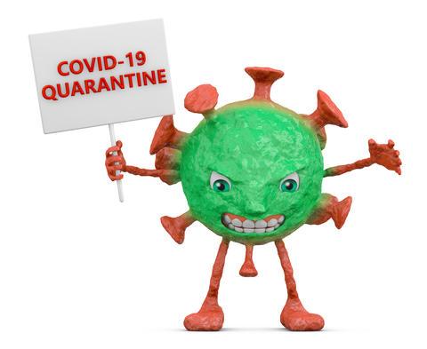 Red-green evil coronovirus Photo