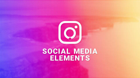 Instagram Social Media Elements After Effects Template