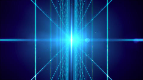 Futuristic blue laser grid perspective technology background Photo