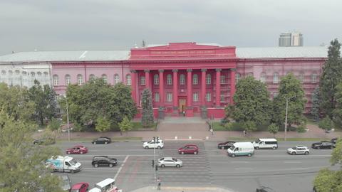 Kyiv National University Shevchenko. Aerial view. Ukraine Live Action