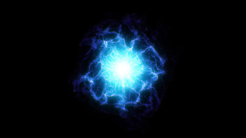 Abstract Blue Shockwave Smoke Animation. Pulsating energy field. Energy Fx Animation