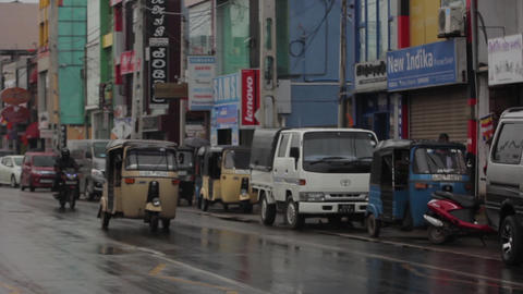 Cityscape of Sri Lanka. Street of the city. Asia. People Live Action