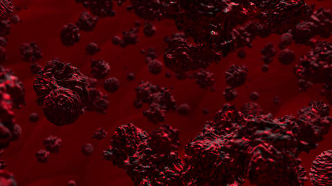 2019 n-cov, Corona virus or covid 19 virus cell 3D rendering. virus and global infection, crises, Animation