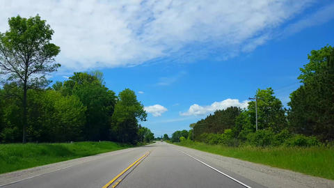 *Reverse Motion* Driving Rural Countryside During Bright Summer Day Backward Time Lapse. Driver Live Action
