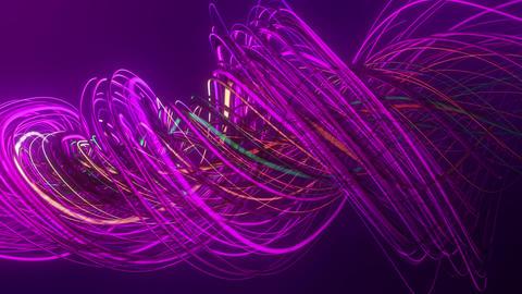 Colorful Neon Twisting Strings Lines VJ Loop Background Animation