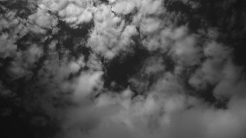 Scenery cloud Timelapse in black and white mood Live Action