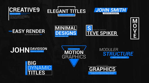 Elegant Lower Third Titles Motion Graphics Template