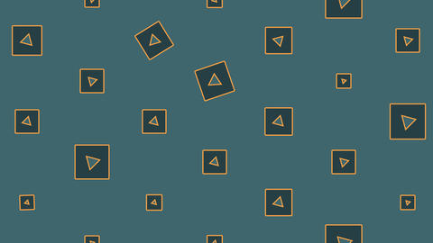 Abstract Minimal Pattern With Rotating Squares Animated On The Surface Animation