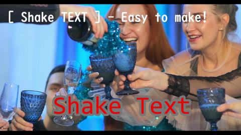 [ Shake Text ] - You can make auto vibration text モーショングラフィックステンプレート