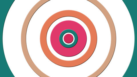 Simple Abstract Pattern With Colorful Circles Animated On The Surface Animation