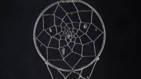 dreamcatcher with smoke concept of calm, pacification, care and protection Live Action