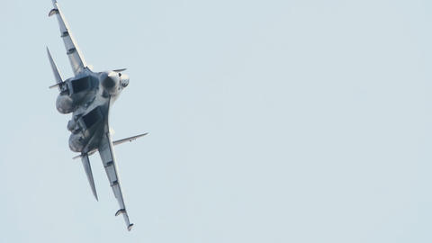 Russian aerobatic team, air-defence fighter Live Action